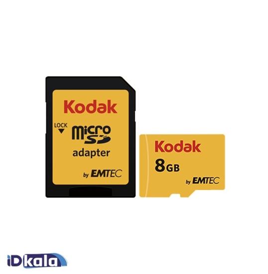 تصویر  KODAK microSDHC/SDXC Class 10 UHS-1 U1 with adapterGB- 8GB